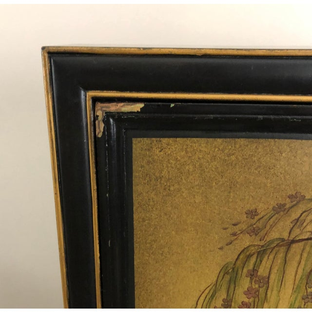 Antique Chinoiserie Writing Desk With Fold-Down Writing Surface For Sale - Image 11 of 12