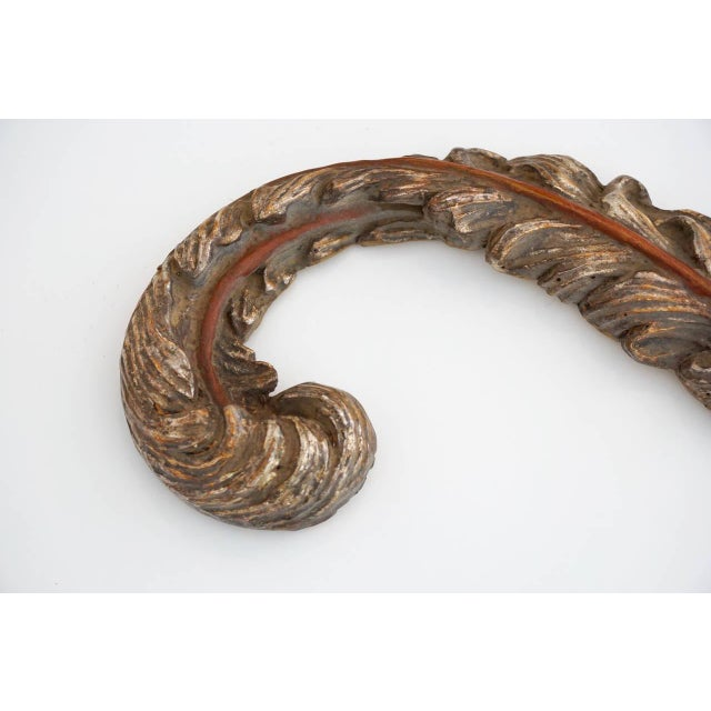 Early 20th Century Early 20th Century Rocaille Silver Gilt Wall Ornaments - a Pair For Sale - Image 5 of 10
