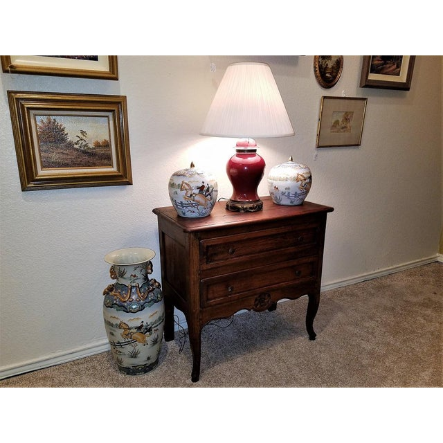 17c French Provincial Oak Commode For Sale - Image 11 of 13