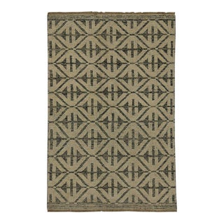 Contemporary Modern Style Rug with High and Low Pile For Sale