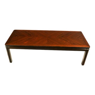 Mid Century Lane Rosewood Coffee Table For Sale