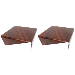 1960's Jorge Zalszupin Square Brazilian Jacaranda Andorinha Coffee Tables For Sale