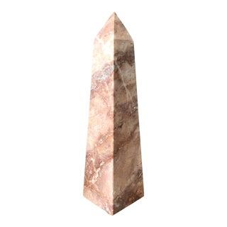 Pink Marble Obelisk For Sale