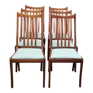 Set of Six Danish Modern Teak Dining Chairs C.1960s For Sale