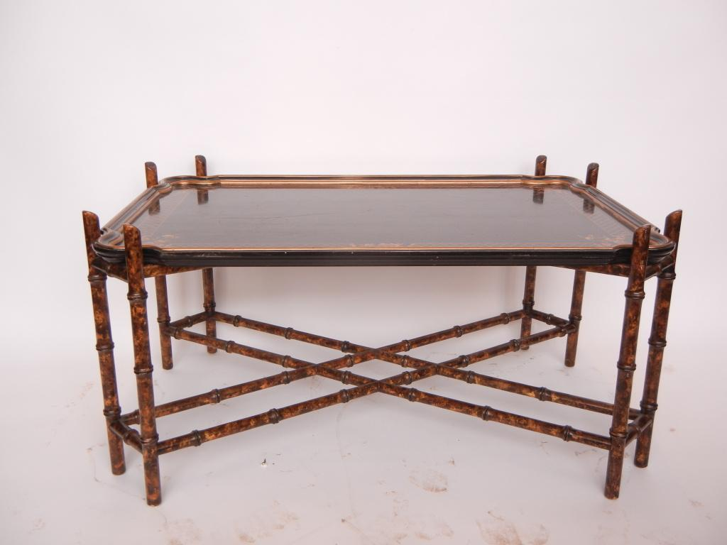 Vintage Baker Faux Bamboo Coffee Table   Image 2 Of 4