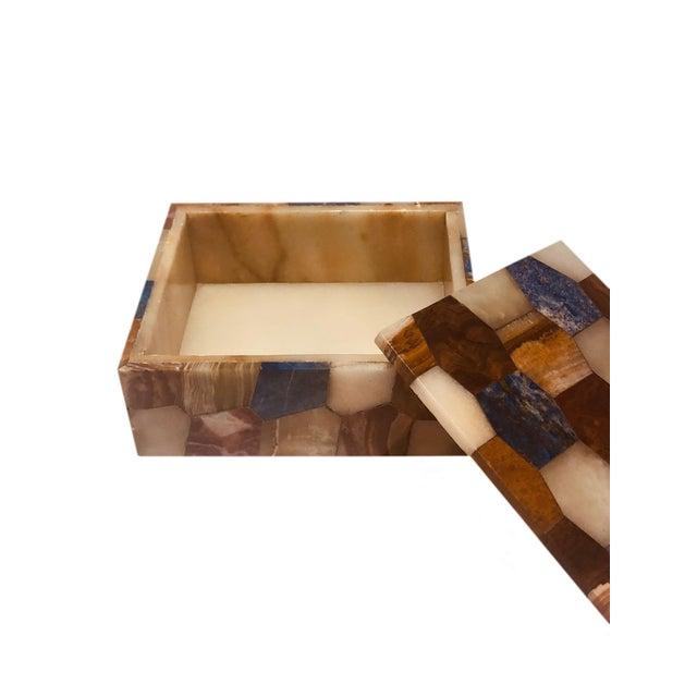 Antique Russian Hexagonal Precious Stones Box For Sale - Image 4 of 8
