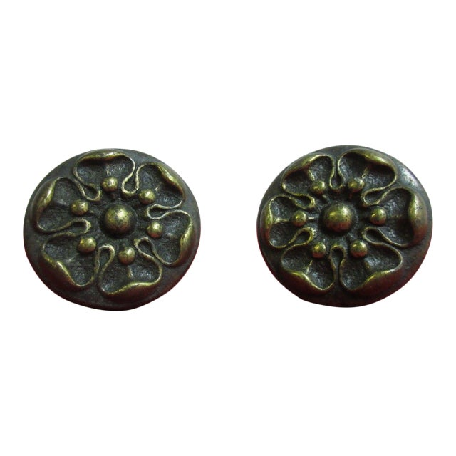 Henredon Brass French Country Drawer Handles - a Pair For Sale
