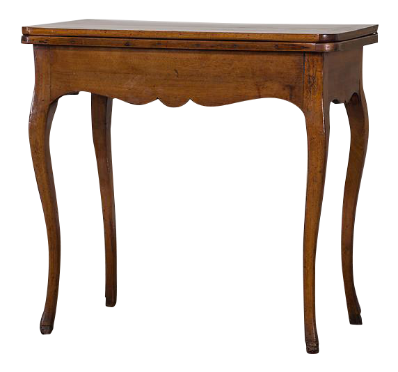 Incredible Antique French Walnut Game Table Circa 1770 Decaso
