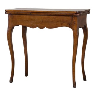 Antique French Walnut Game Table circa 1770 For Sale