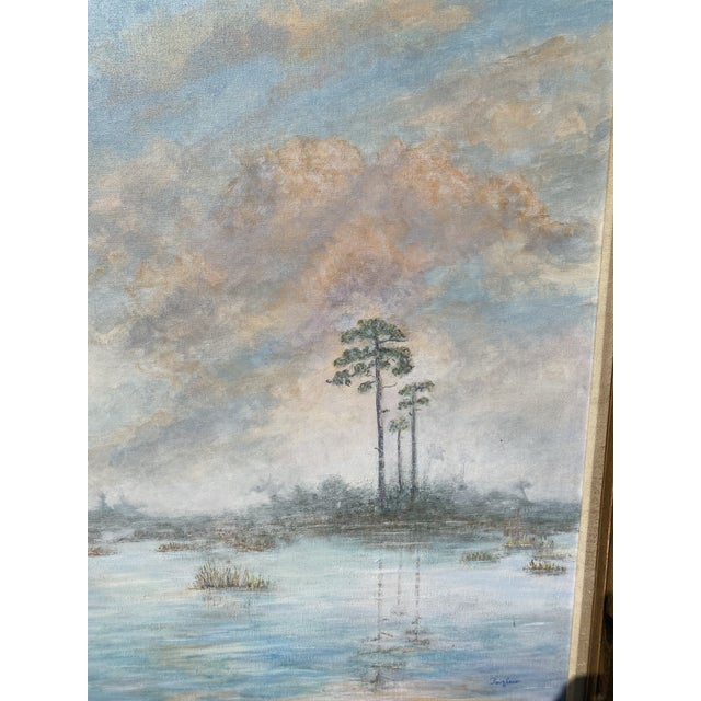 Florida Everglades Acrilic Painting in Pastels Tones. For Sale - Image 4 of 13