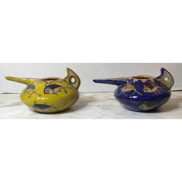 Ceramic Vintage Persian Ceramic Vessels - a Pair For Sale - Image 7 of 13