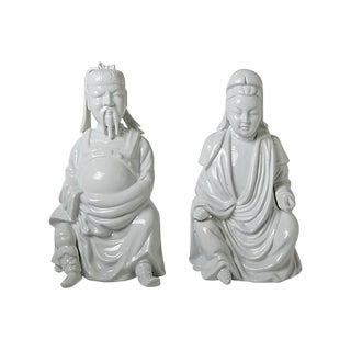 Blanc De Chine Figurines - A Pair