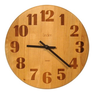1960s Vintage Linden Wall Clock For Sale