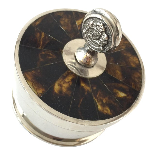 Traditional Ralph Lauren Tortoise Shell Trinket Holder Jewelry Box For Sale
