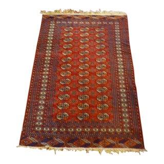 Vintage, Deep Red, Bokhara Rug 72x50.5