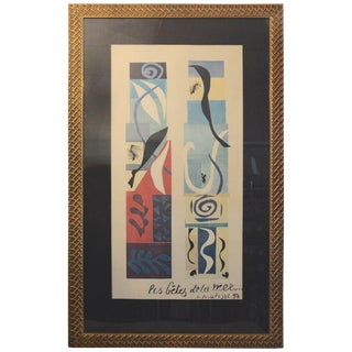The Beast of the Sea After Matisse, Framed Lithograph, 1950 For Sale