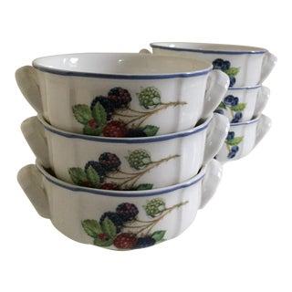 Villeroy & Boch Cottage Porcelain Cream Soup & Breakfast Cups - Set of 6