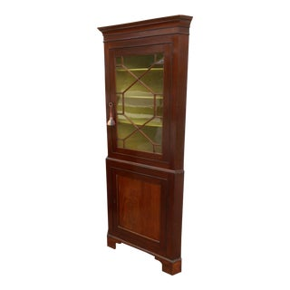 1940s Traditional China Corner Cabinet For Sale
