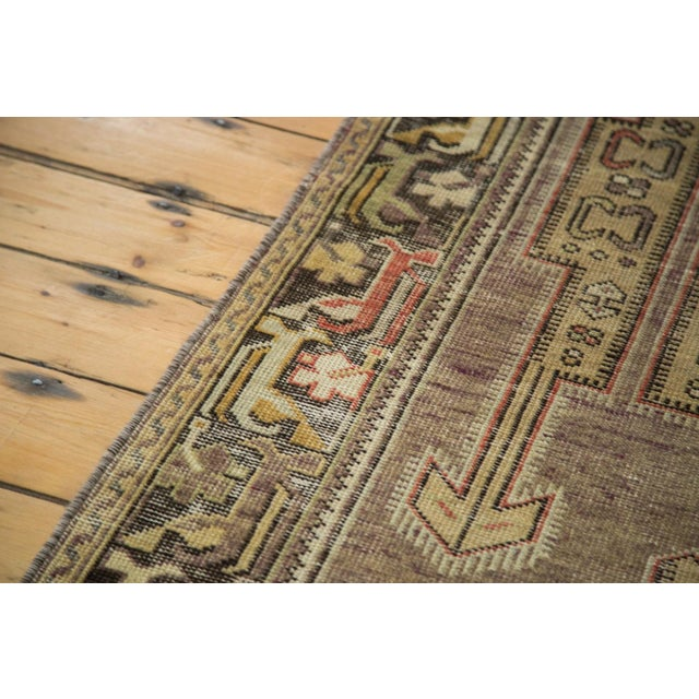 "Vintage Distressed Oushak Runner - 3'8"" X 6'10"" - Image 7 of 10"