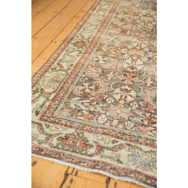 "1960s Vintage Distressed Mahal Carpet - 5'5"" X 10' For Sale - Image 5 of 13"