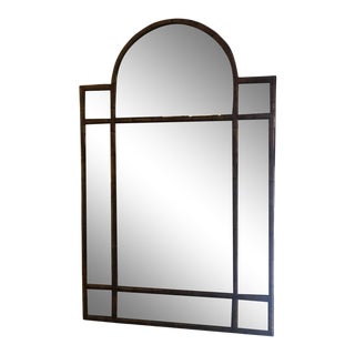 1940s Vintage Faux Bamboo Georgian Style Aged Ghosted Mirror For Sale