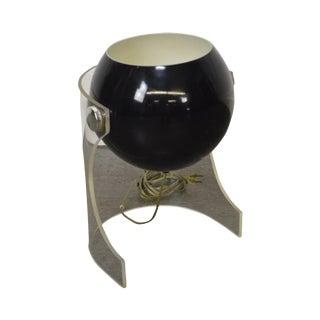 """Mid Century Modern Robert Sonneman Lucite Base """"Eyeball"""" Table Lamp"""