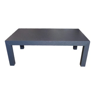 Modern Grasscloth Parsons Coffee Table by Bungalow 5 For Sale