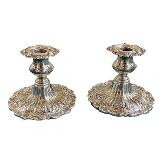 Reed and Barton Sterling Console Candle Sticks - a Pair For Sale
