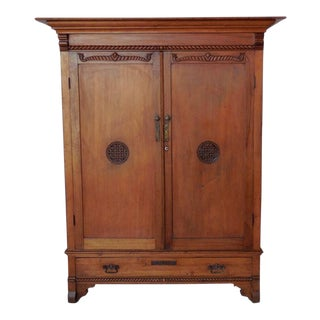 Early 20th Century Guatemalan Cabinet or Wardrobe with Drawers For Sale