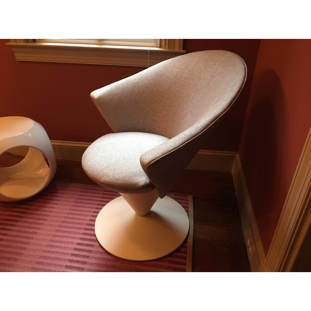 1960s Adrian Pearsall Grey Swivel Cone Chair - Image 7 of 7