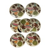 Image of Mid Century Futura Tampico Red Wing Dinner Plates - Set of 7 For Sale