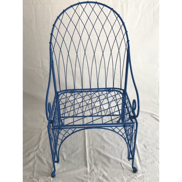 Vintage Italian Iron Folding Chairs - A Pair For Sale - Image 4 of 9