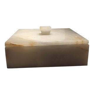 Onyx Decorative Box For Sale