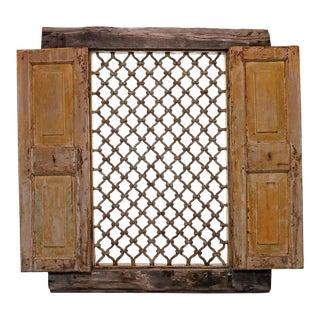 Antique Tunisian Iron Grill Window