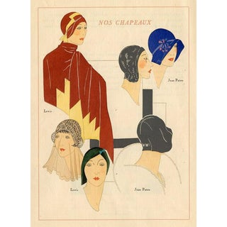 Our Hats, 1929 Art Deco Fashion Print For Sale