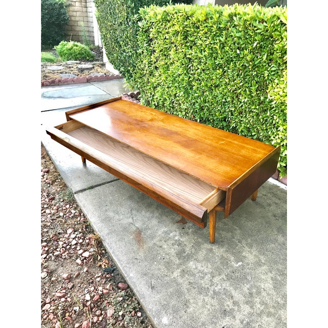 Mid-Century Modern Lane Walnut Coffee Table - Image 4 of 4
