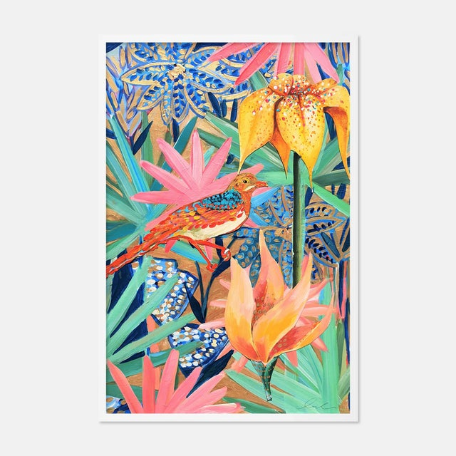 Contemporary Zanzabar Collage 2 by Lulu DK in White Framed Paper, Small Art Print For Sale - Image 3 of 3