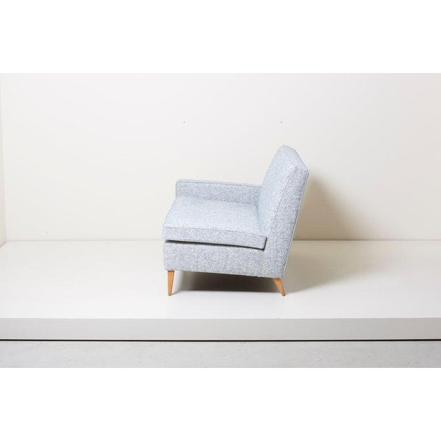 Blue Paul McCobb Sectional Corner Sofa Custom Craft/ Planner Group Newly Upholstered For Sale - Image 8 of 13