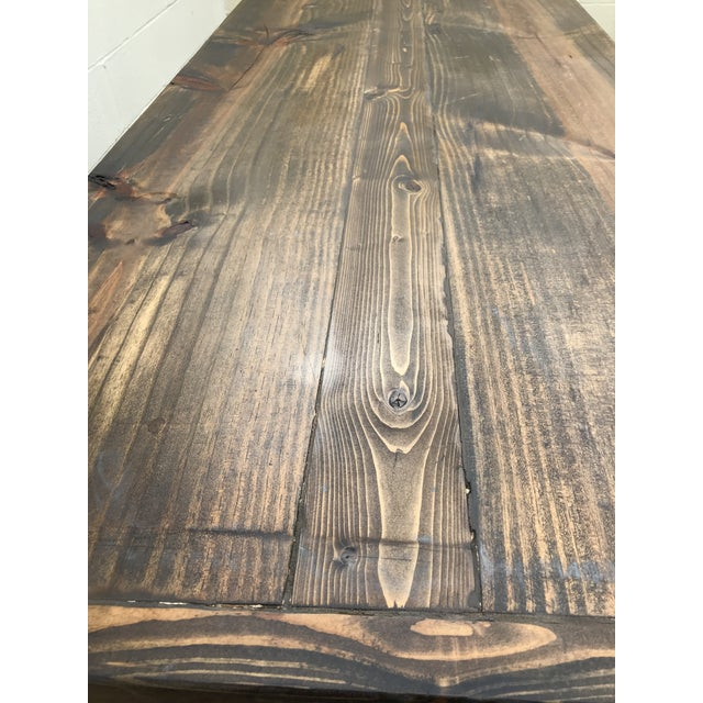 Rustic Wooden Rectangular Center Table For Sale In Atlanta - Image 6 of 9