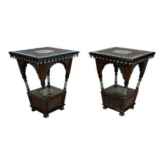 Moroccan Side Tables - A Pair For Sale