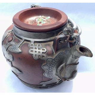 Antique Chinese Clay & Pewter Tea Pot - Signed Preview