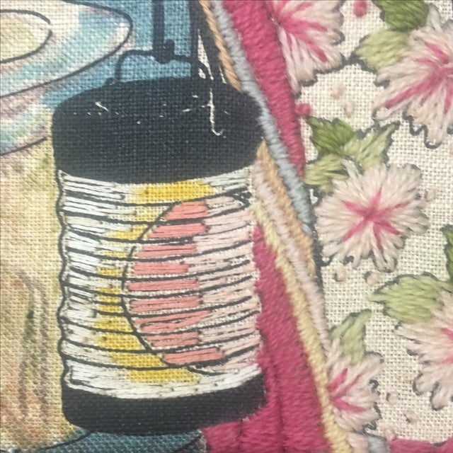 Asian Watercolor & Needlepoint Artwork - Image 8 of 8