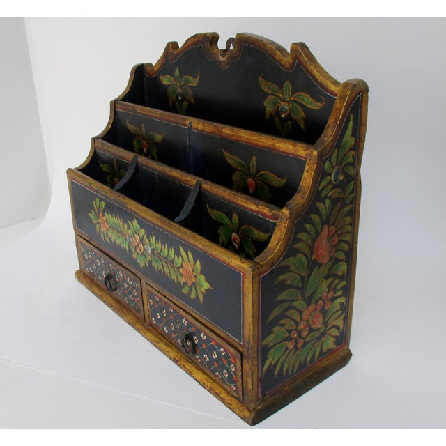 Late 20th Century Hanging Wood Letter Holder For Sale - Image 5 of 8