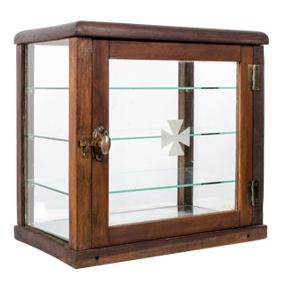 20th Century Americana Barber's Sterilization Display Cabinet For Sale