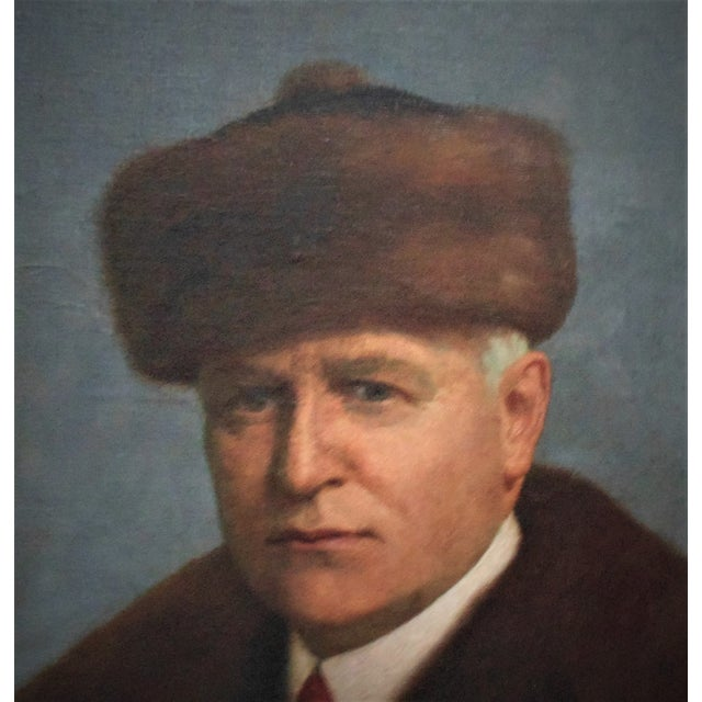 Realism Antique Portrait Painting Man Gentleman Oil on Canvas Signed Emil Pollak-Ottendorff For Sale - Image 3 of 6
