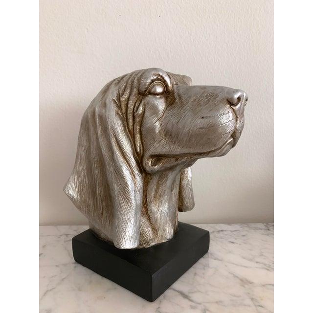Art Deco Labrador Golden Retriever Dog Head Figurine Bust For Sale - Image 3 of 9