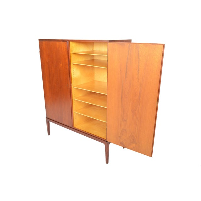 Tall Danish Modern Teak Bureau - Image 10 of 10