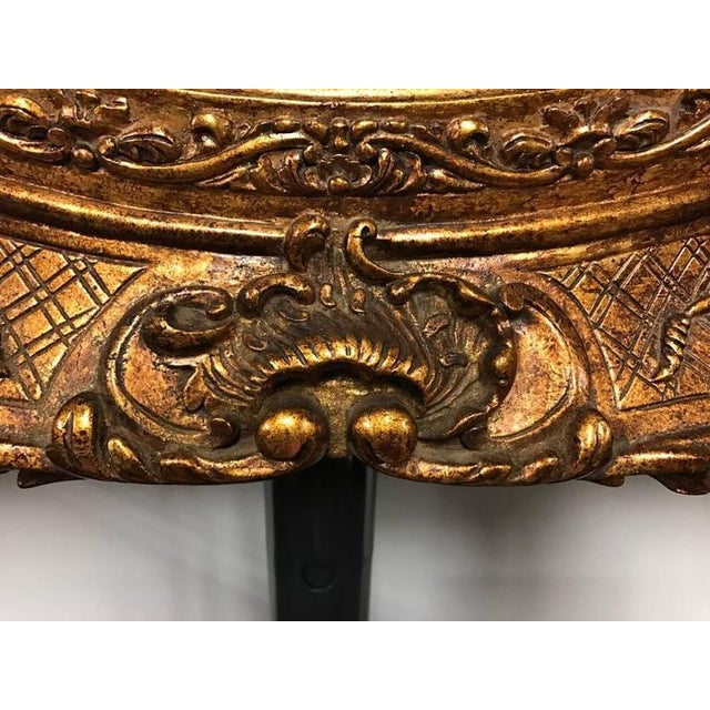 Giltwood Mirror with Ornate Details For Sale In New York - Image 6 of 6