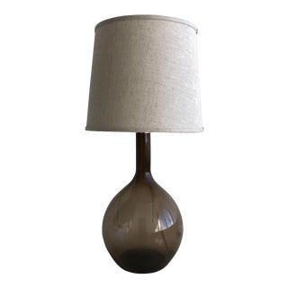 Brown Glass Bottle Lamp