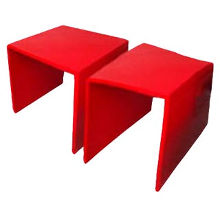 Red Accent Tables - A Pair